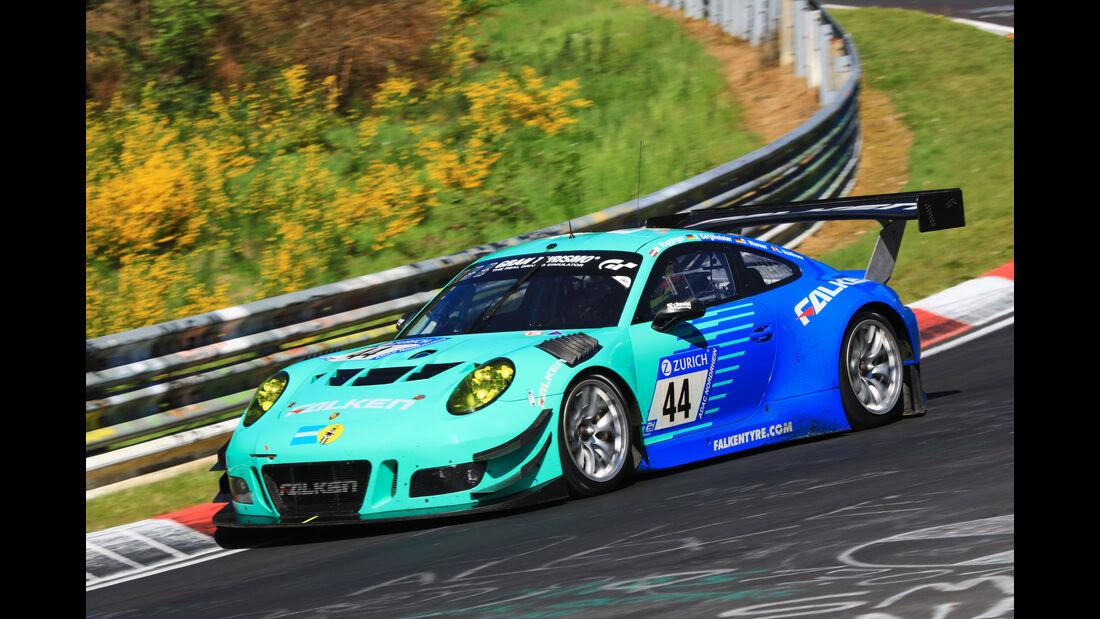 24h-Rennen Nürburgring 2017 - Nordschleife - Startnummer 44 - Porsche 911 GT3 R - Falken Motorsports - Klasse SP 9