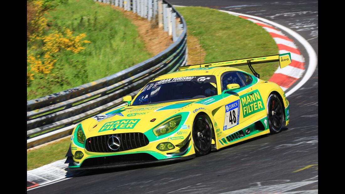 24h-Rennen Nürburgring 2017 - Nordschleife - Startnummer 48 - Mercedes-AMG GT3 - Mercedes-AMG Team HTP Motorsport - Klasse SP 9