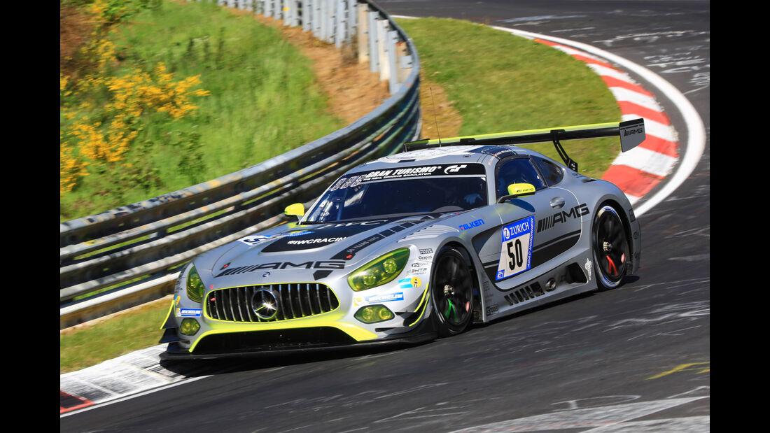 24h-Rennen Nürburgring 2017 - Nordschleife - Startnummer 50 - Mercedes-AMG GT3 - Mercedes-AMG Team HTP Motorsport - Klasse SP 9