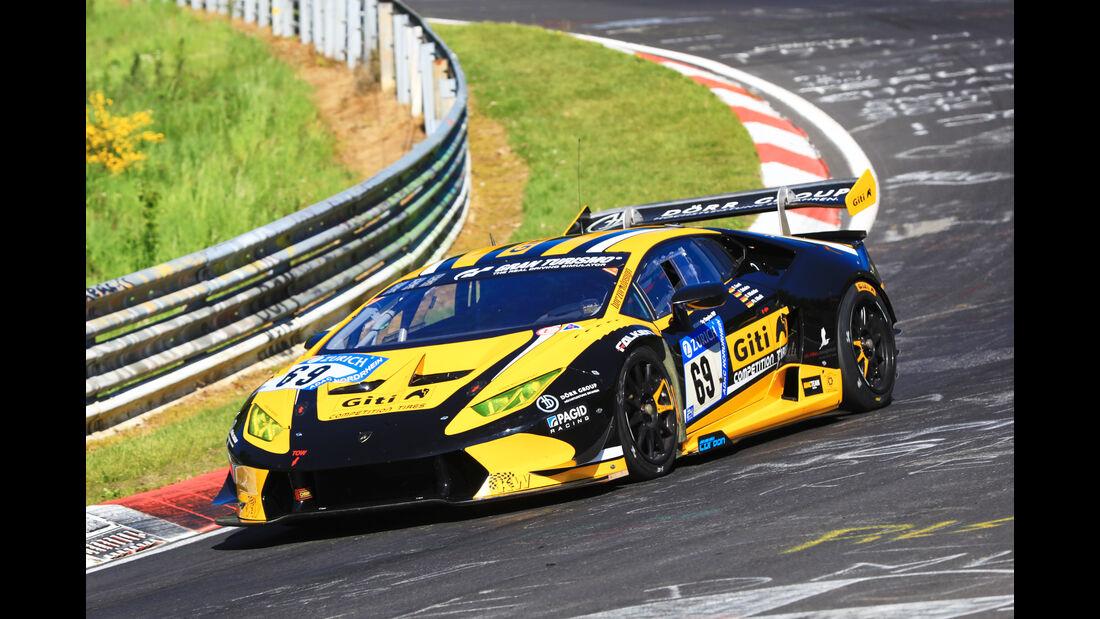 24h-Rennen Nürburgring 2017 - Nordschleife - Startnummer 69 - Lamborghini Huracan Super Trofeo - Dörr Motorsport - Klasse SP 8