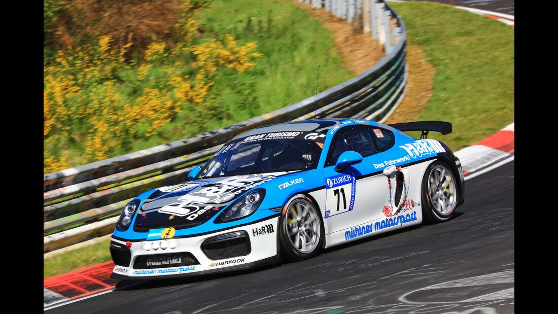 24h-Rennen Nürburgring 2017 - Nordschleife - Startnummer 71 - Porsche Cayman GT4 MR - Muehlner Motorsport - Klasse SP 10