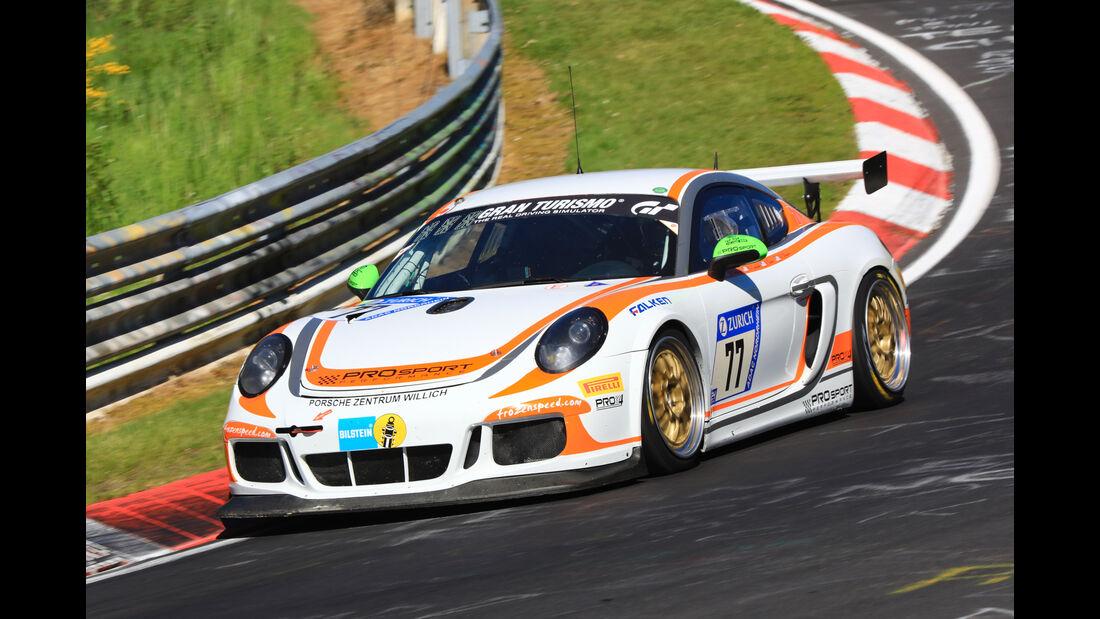 24h-Rennen Nürburgring 2017 - Nordschleife - Startnummer 77 - Porsche Cayman - Prosport Performance - Klasse SP 6
