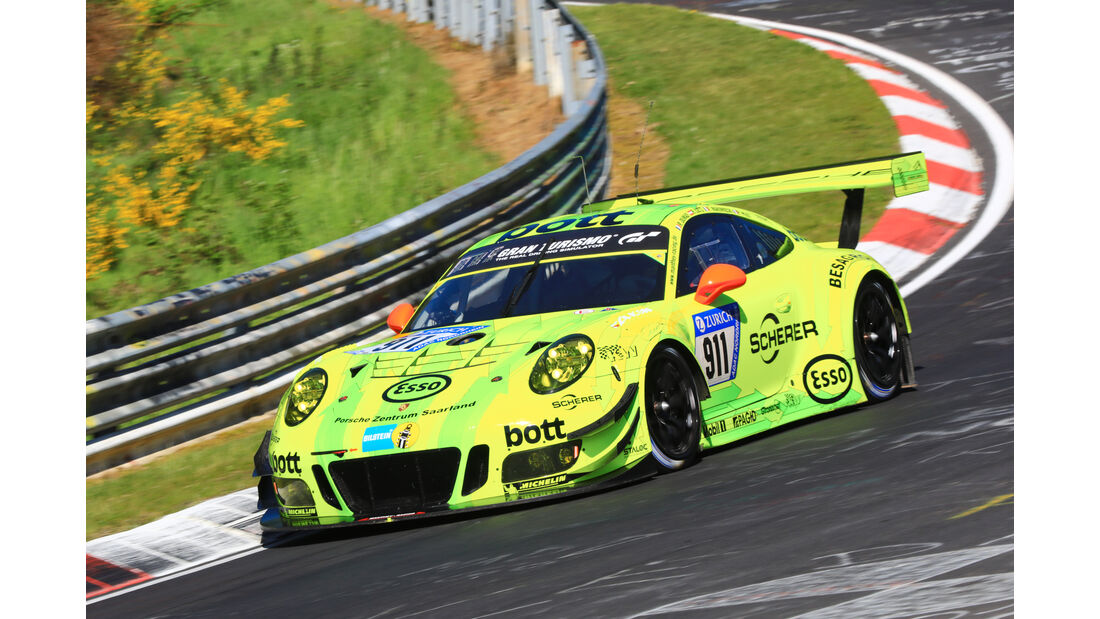 24h-Rennen Nürburgring 2017 - Nordschleife - Startnummer 911 - Porsche 911 GT3 R - Manthey Racing - Klasse SP 9