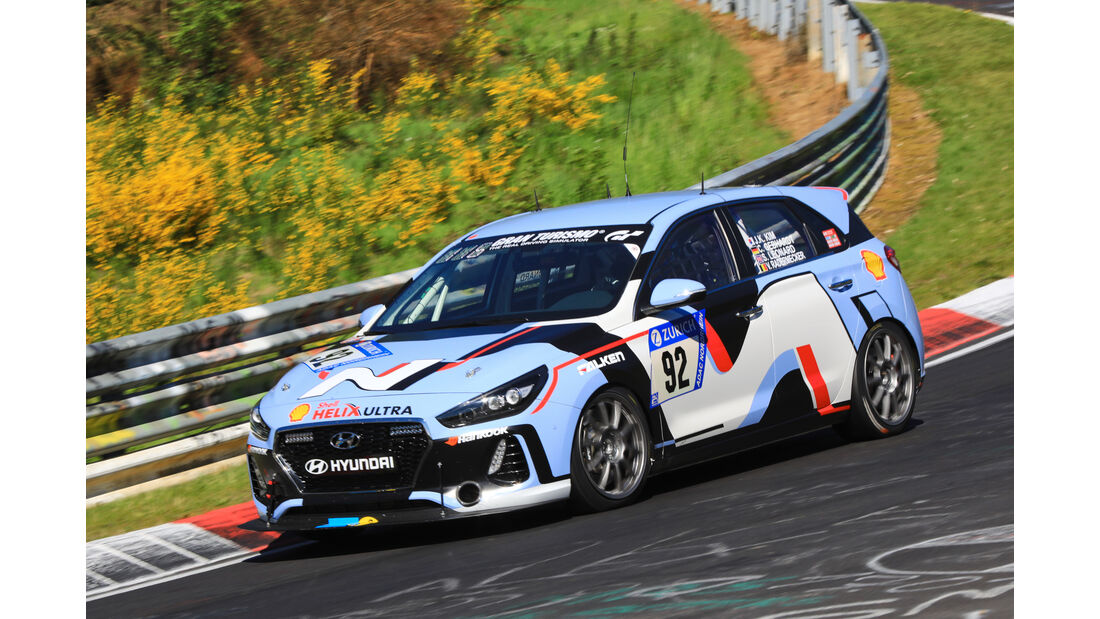 24h-Rennen Nürburgring 2017 - Nordschleife - Startnummer 92 - Hyundai I30 N -Hyundai N - Klasse SP 3T