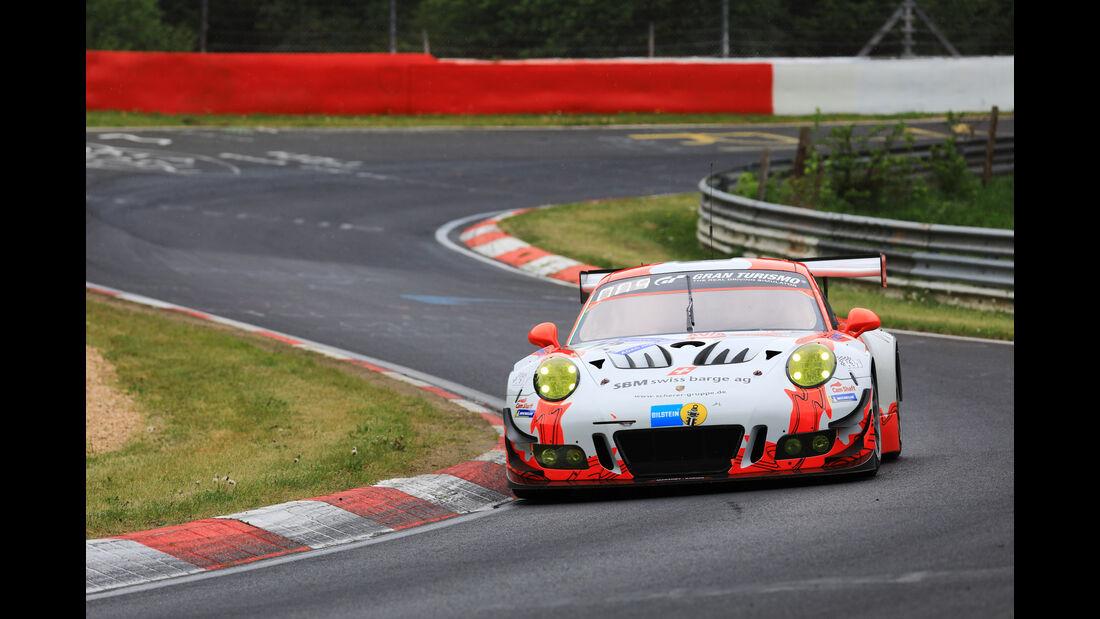 24h-Rennen Nürburgring 2018 - Nordschleife - Porsche 911 GT3 R - Startnummer #12