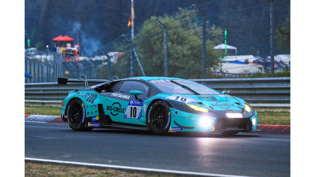 24h-Rennen Nürburgring 2018 - Nordschleife - Startnummer #10 - Lamborghini Huracán GT3 - Konrad Motorsport - SP9