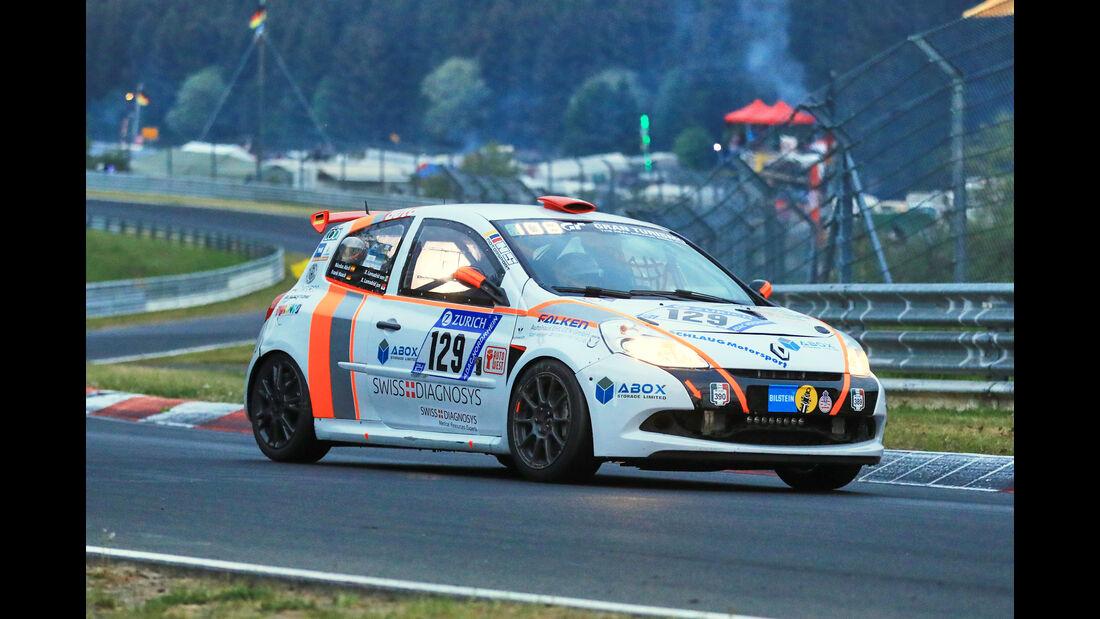 24h-Rennen Nürburgring 2018 - Nordschleife - Startnummer #129 - Renault Clio RS - Schlaug Motorsport - SP3