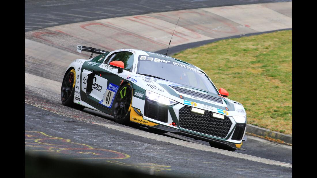 24h-Rennen Nürburgring 2018 - Nordschleife - Startnummer #41 - Audi R8 LMS GT4 - Phoenix Racing - SP10