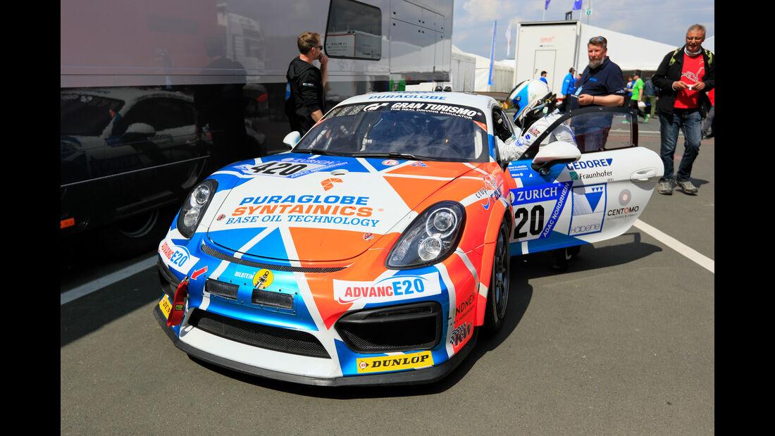 24h-Rennen Nürburgring 2018 - Nordschleife - Startnummer #420 - Porsche Cayman GT4 Clubsport - Care for Climate - AT