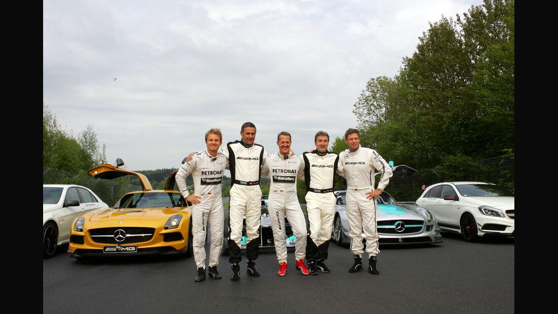 24h-Rennen Nürburgring - Michael Schumacher - Karl Wendlinger - Nico Rosberg - Bernd Schneider - Bernd Mayländer - 19. Mai 2013