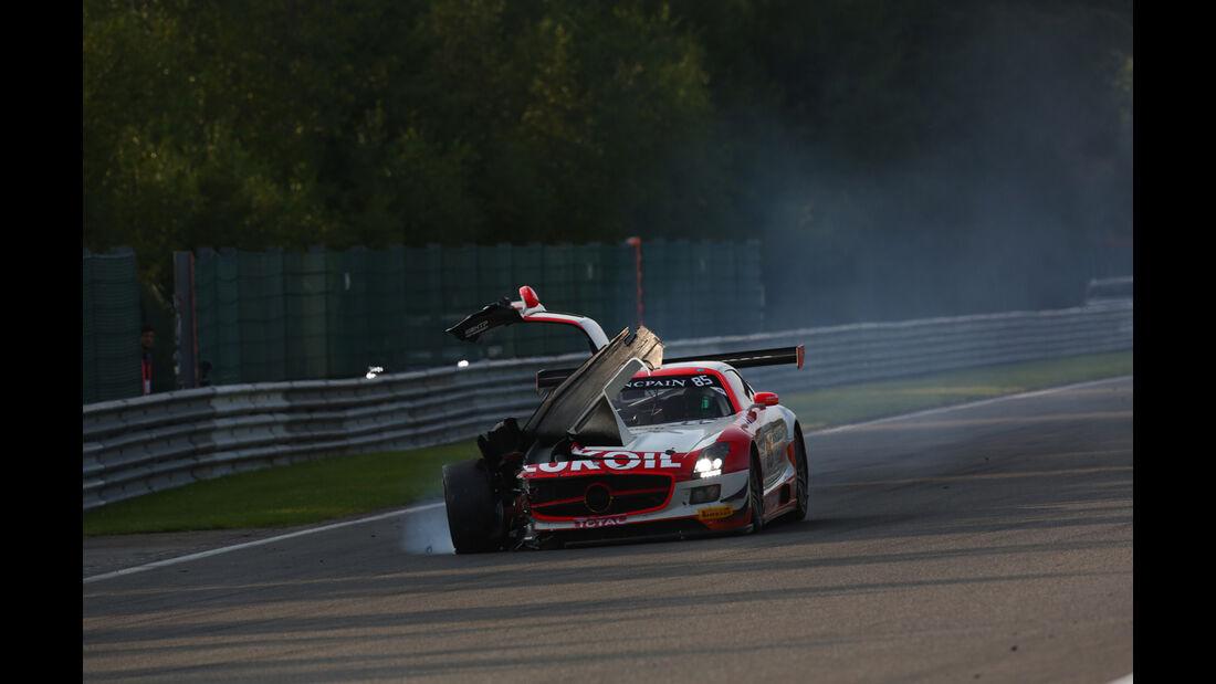 24h-Rennen, Spa-Francorchamps 2014, Crash, Unfal
