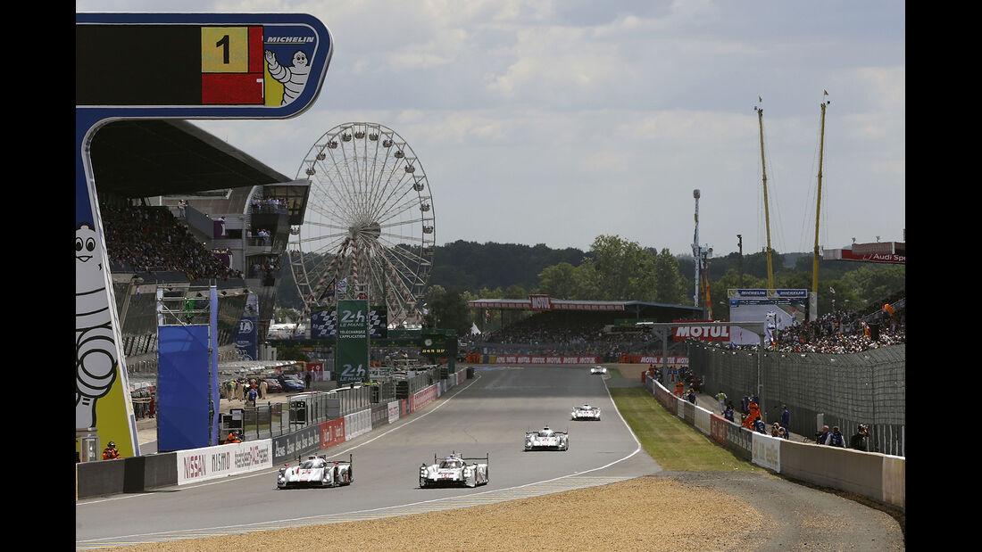 24h-Rennen von Le Mans 2014 - Startphase - Audi - Porsche - LMP1