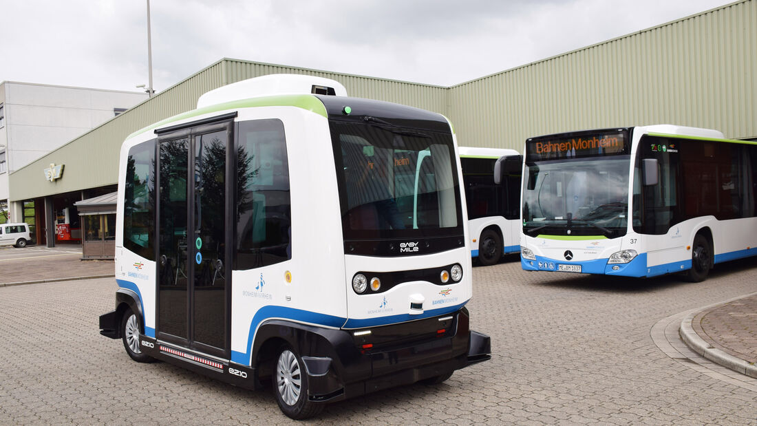 4/2019,Easy Mile autonomer Bus Monheim am Rhein