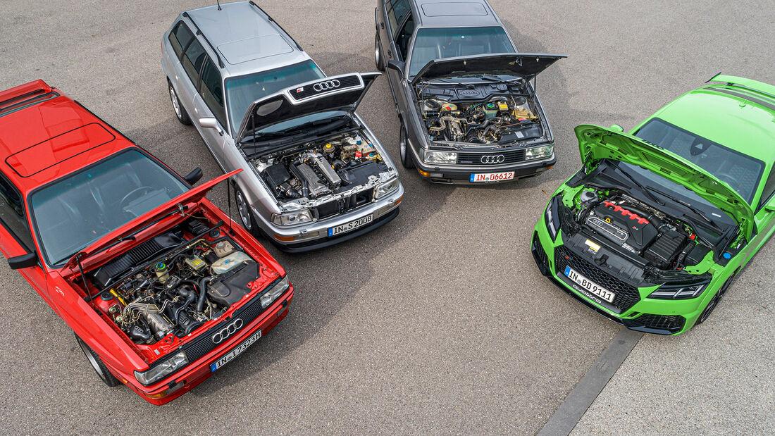 45 Jahre Audi-Fuenfzylinder