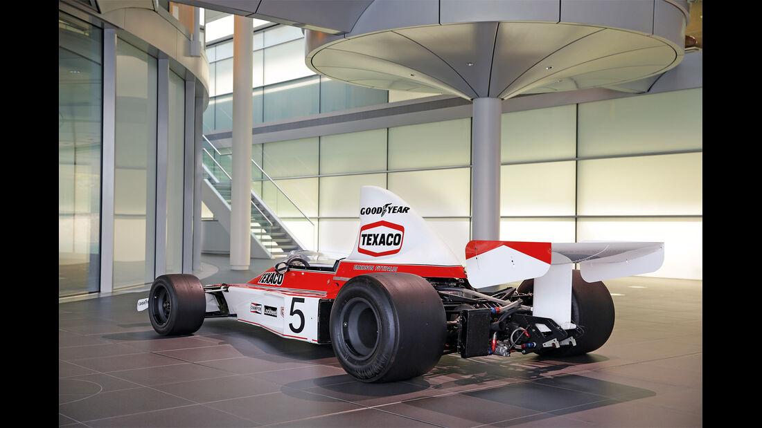 50 Jahre McLaren, Formel 1, McLaren M23, Heckansicht
