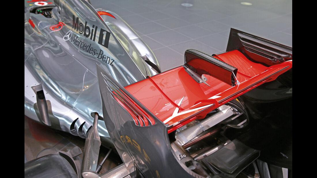 50 Jahre McLaren, Formel 1, McLaren MP4-27, Heckflügel