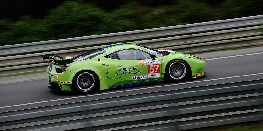 57-Am-GTE-Klasse, Ferrari 458 Italia, 24h-Rennen LeMans 2012