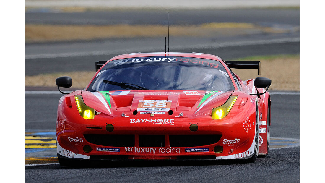 58-Am-GTE-Klasse, Ferrari 458 Italia, 24h-Rennen LeMans 2012