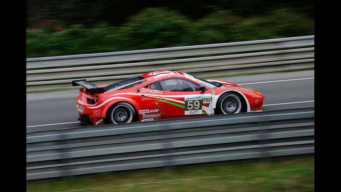 59-Pro-GTE-Klasse, Ferrari 458 Italia, 24h-Rennen LeMans 2012