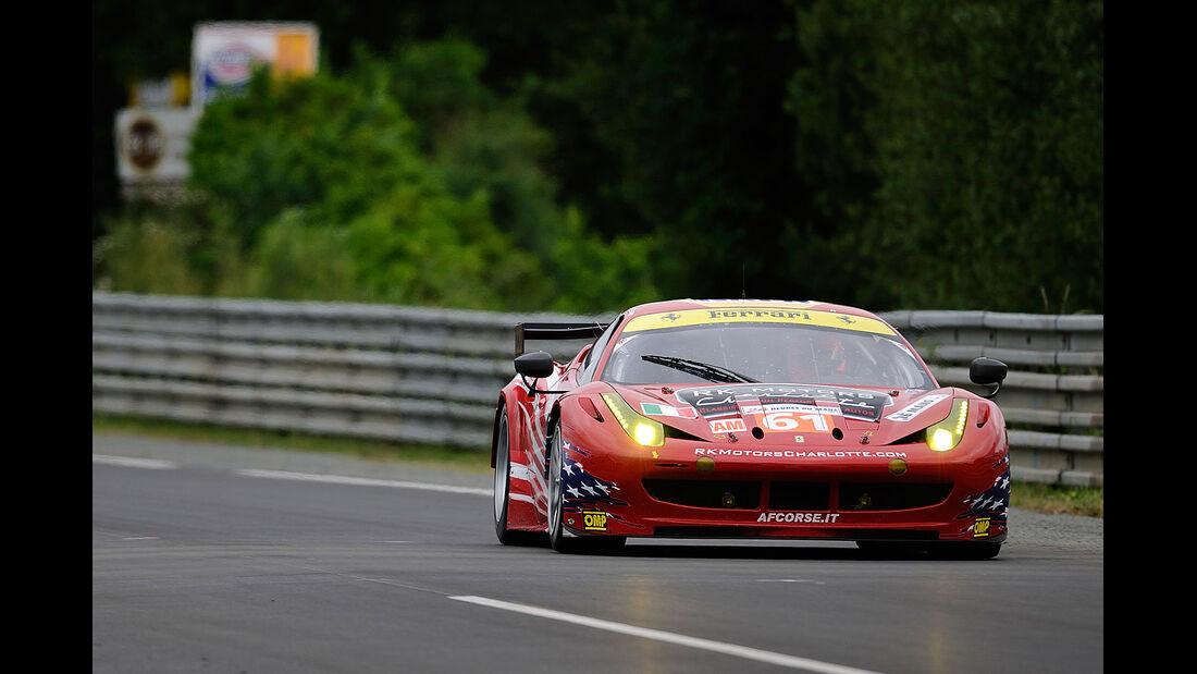 61-Am-GTE-Klasse, Ferrari 458 Italia, 24h-Rennen LeMans 2012