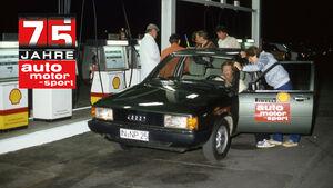 75 Jahre AMS Rekordfahrt Audi