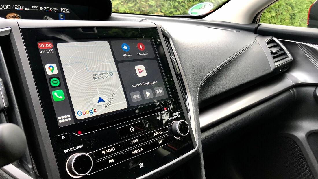 8/2020, Apple CarPlay im Subaru Impreza