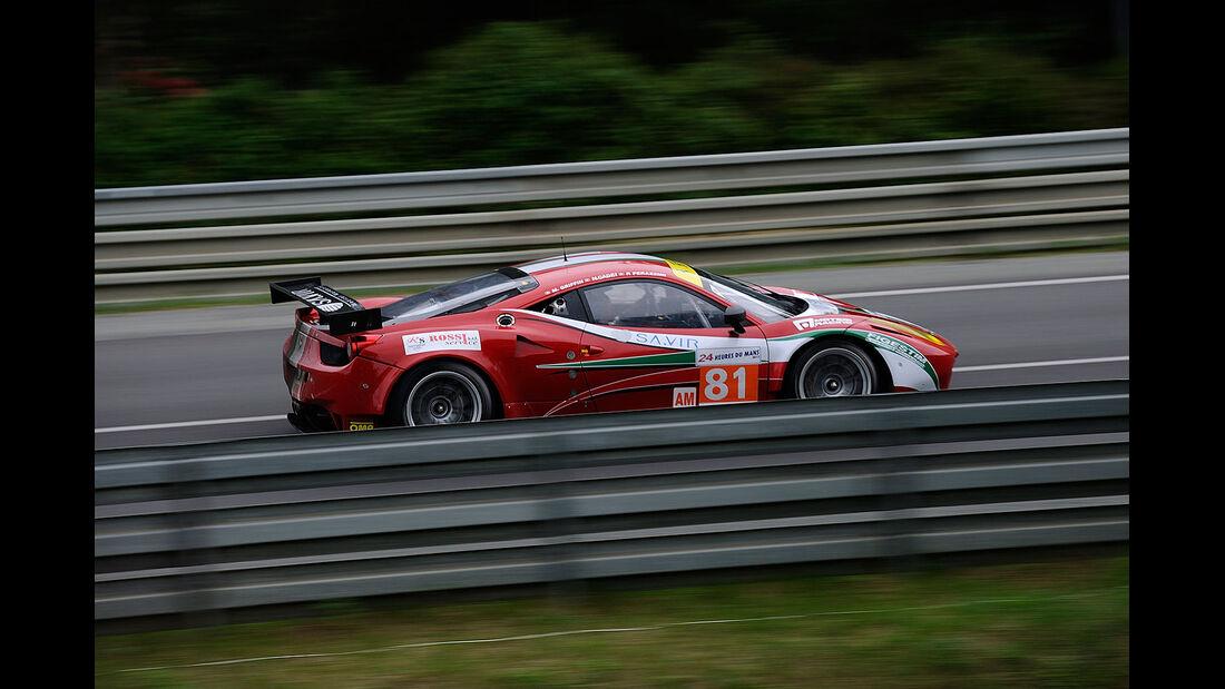 81-Am-GTE-Klasse, Ferrari 458 Italia, 24h-Rennen LeMans 2012