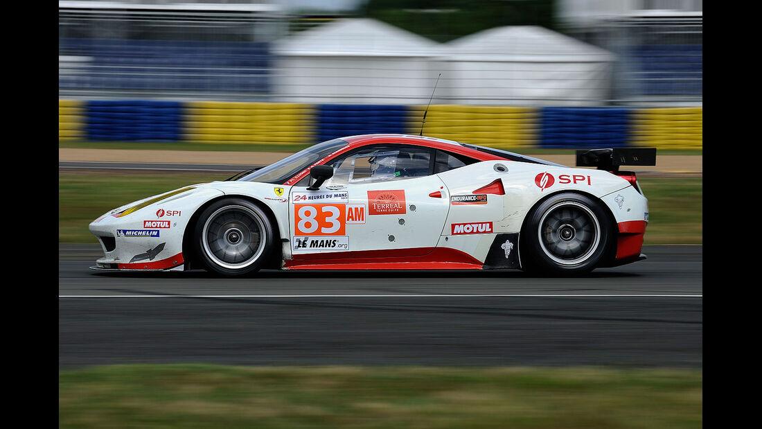 83-Am-GTE-Klasse, Ferrari 458 Italia, 24h-Rennen LeMans 2012