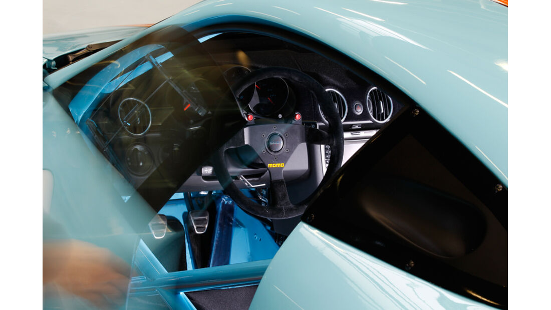 9ff GT9-CS, Lenkrad, Cockpit