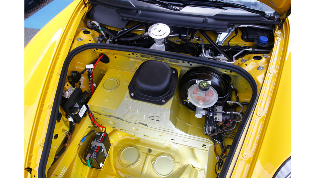 9ff-Porsche GT3 G-Track, Motorraum