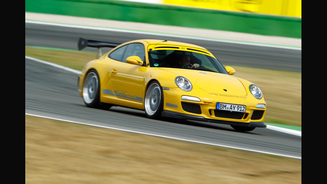 9ff-Porsche GT3 G-Track, Seitenansicht, Kurvenfahrt