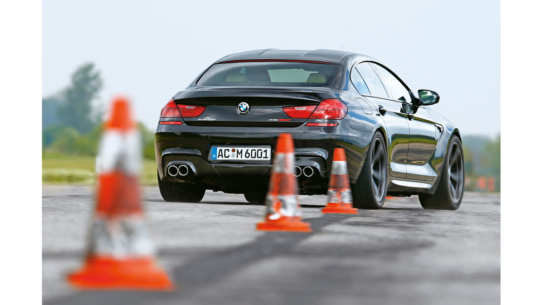 AC-Schnitzer-BMW ACS6 Sport Gran Coupé, Heckansicht, Slalom