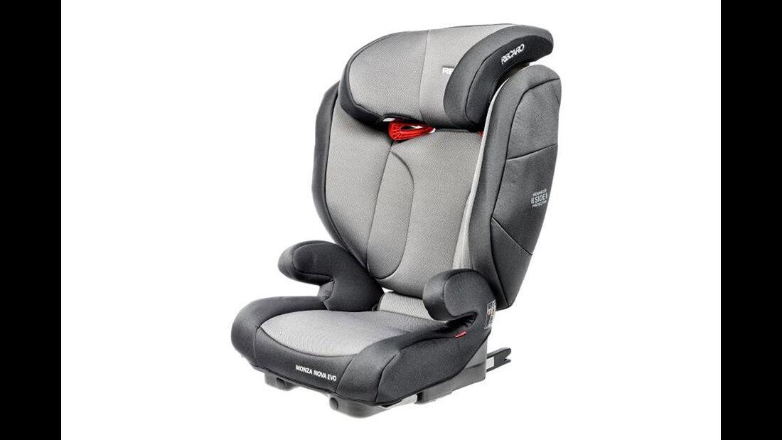 ADAC/ÖAMTC Kindersitz-Test Frühjahr 2018 Recaro-Monza-Nova-Evo Seatfix