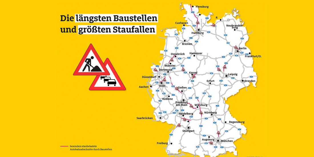ADAC Verkehr Baustellen Statistik 2018