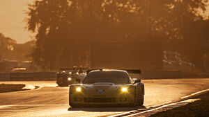 ALMS GT Sebring, Corvette, Sonnenuntergang