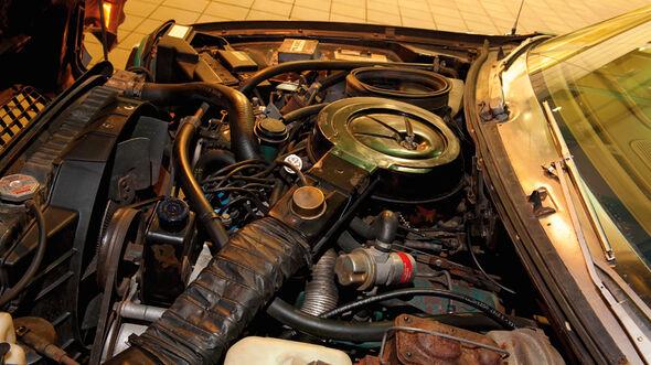 AMC Pacer Limited V8 - Blick unter die Haube - Motorraum