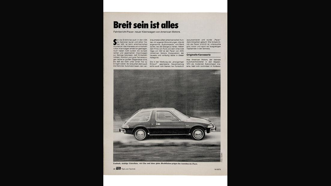 AMC Pacer Limited V8 in auto motor und sport 14/1975