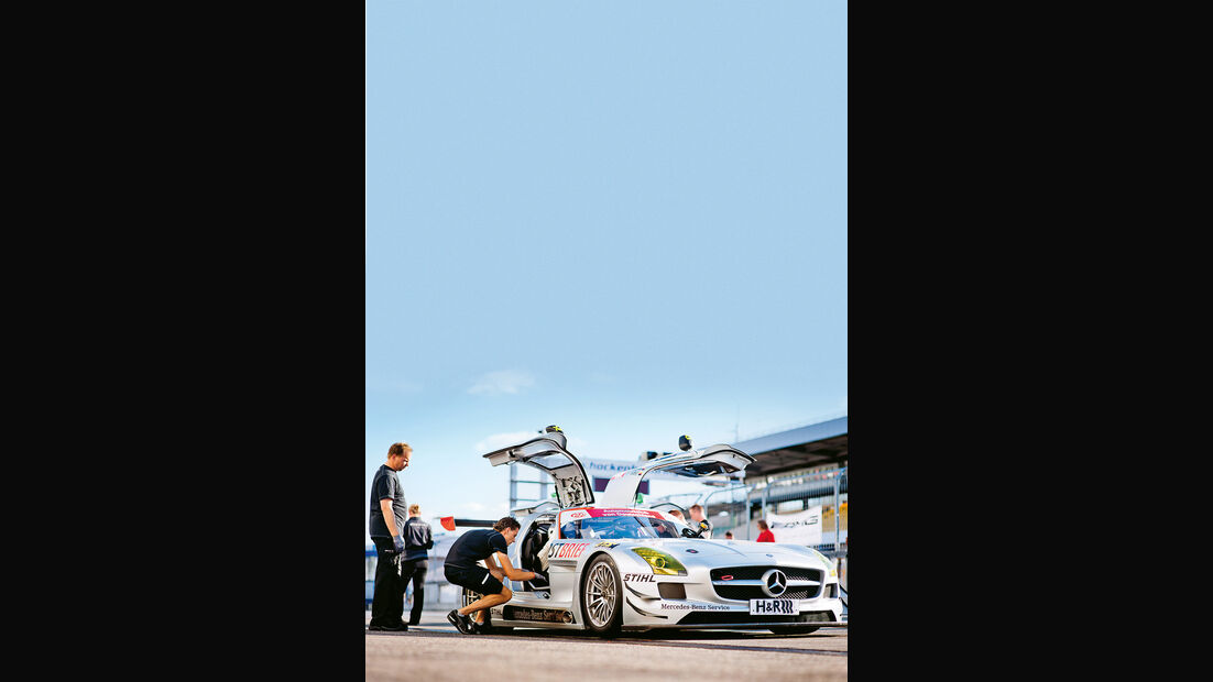 AMG Driving Academy, Mercedes SLS AMG GT3, Frontansicht