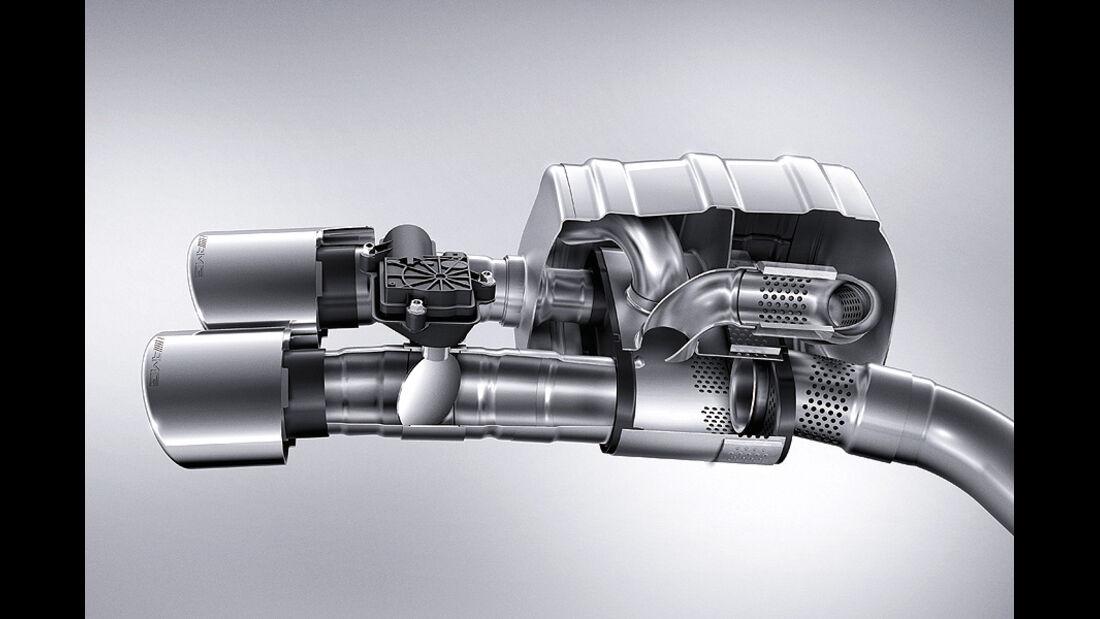 AMG-Motoren, V8, Auspuff