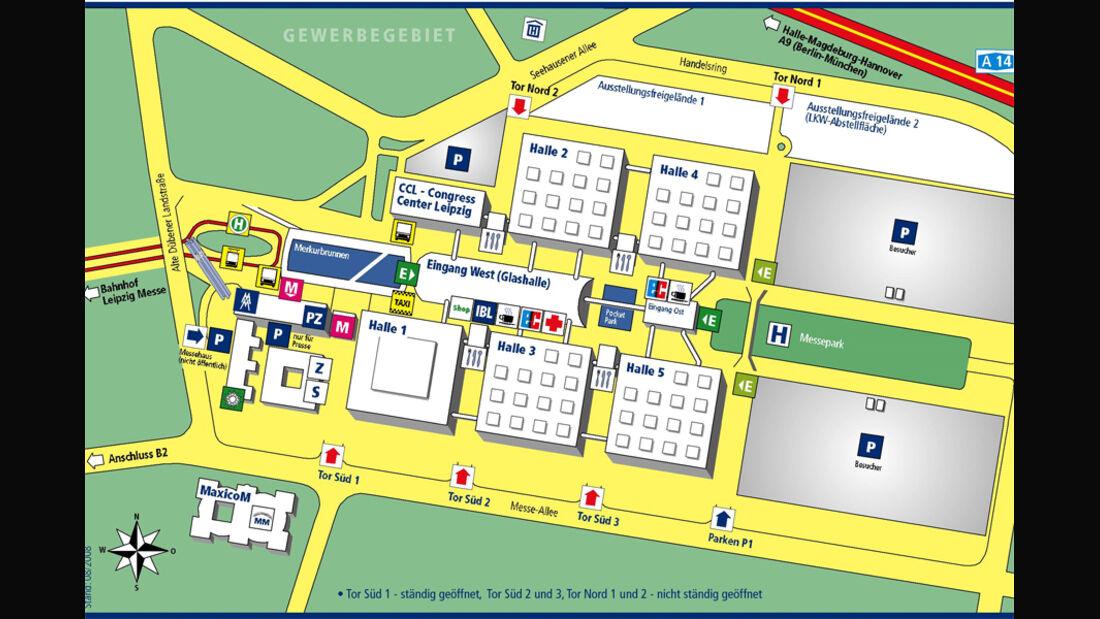 AMI Leipzig Messe 2010 Lageplan