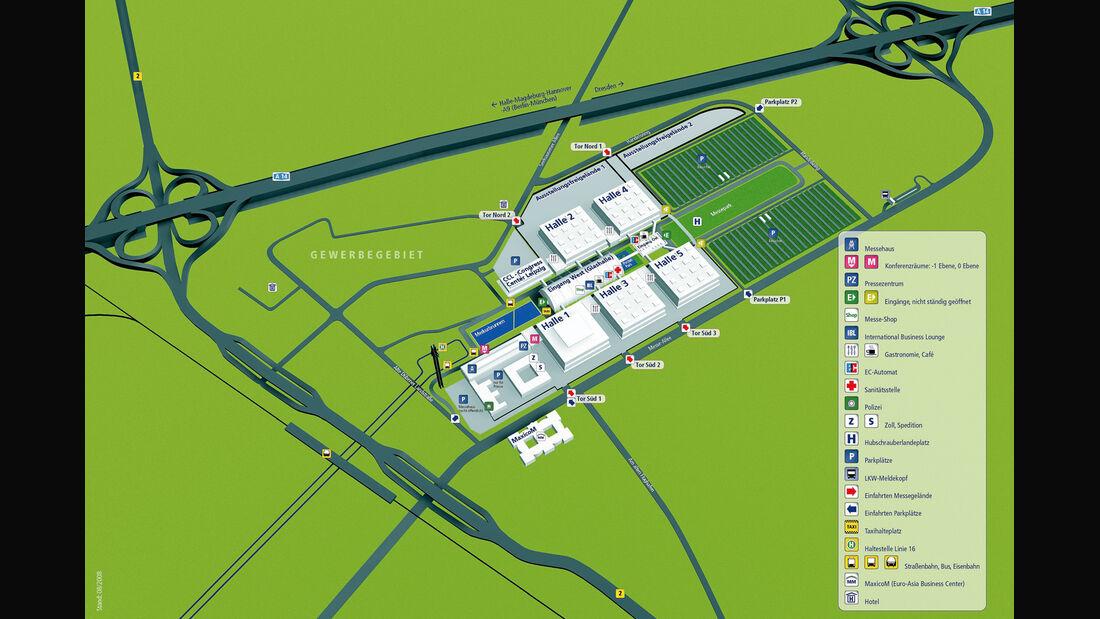 AMI Leipzig, Messeplan, Hallen