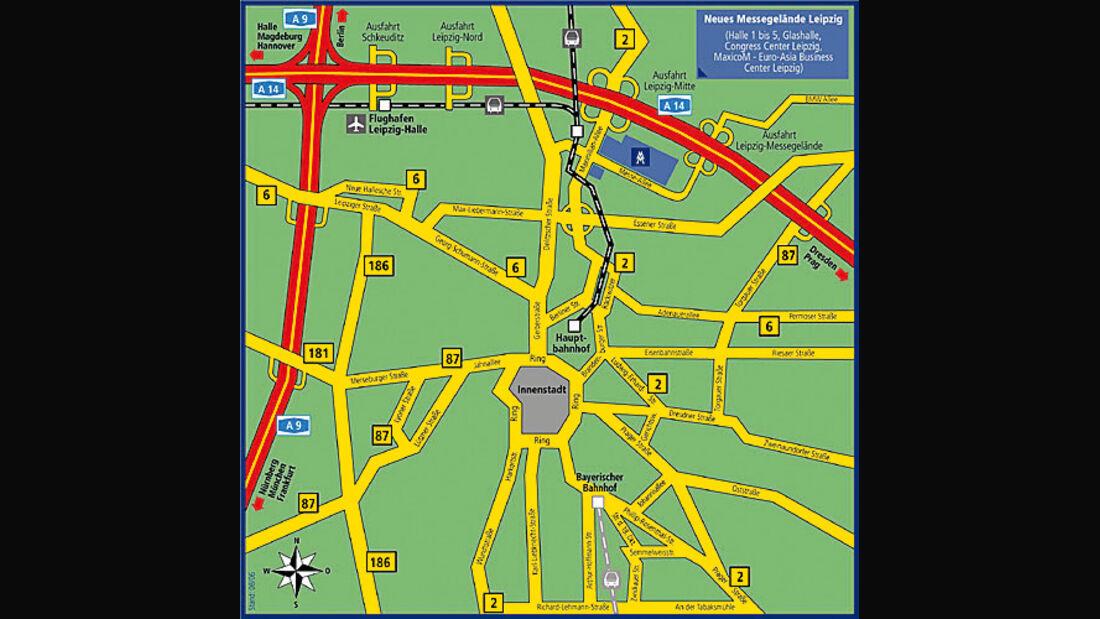 AMI Leipzig, Stadtplan