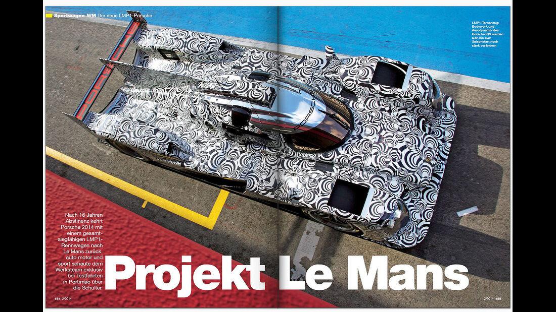 AMS Heft 2 2014 Porsche LMP1