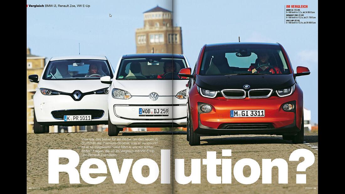AMS Heft 22/2013 E-Auto-Vergleich