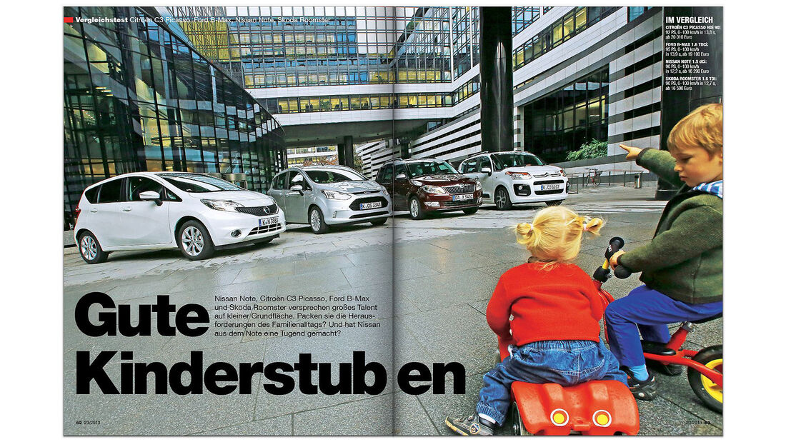 AMS Heft 23/2013 Vergleichstest Kleine Vans