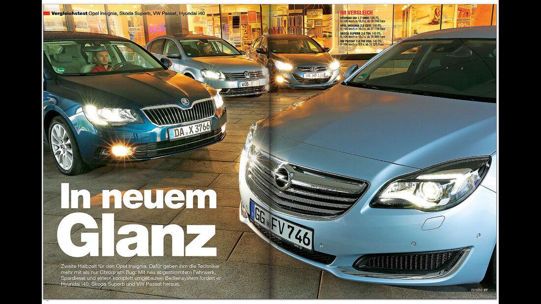 AMS Heft 23/2013 Vergleichstest Opel Insignia ff