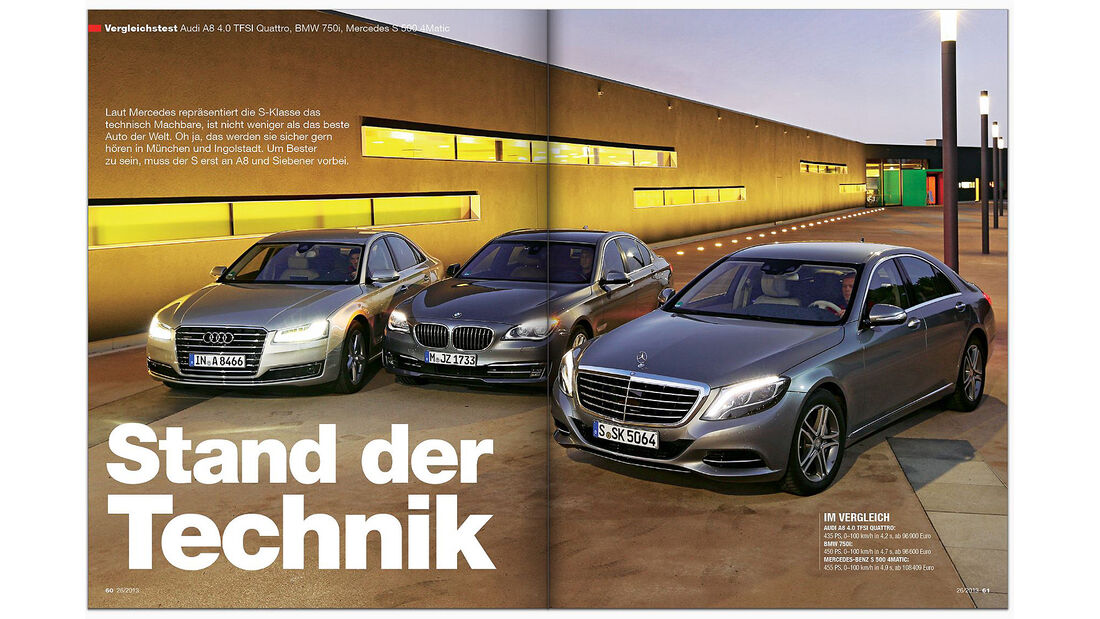 AMS Heft 26 VGL Audi A8, ff