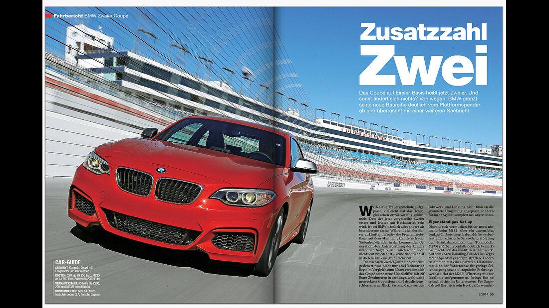 AMS Heft 3 2014 Fahrbericht BMW 2er