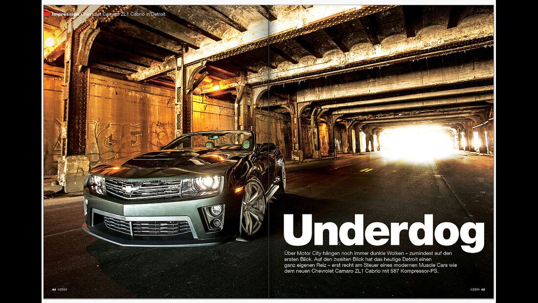 AMS Heft 4 2014 Chevrolet Camaro ZL 1 Cabrio