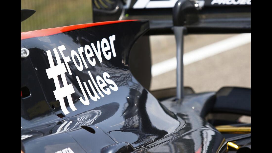 ART GP2 - Jules Bianchi-Aufkleber - GP Ungarn 2015